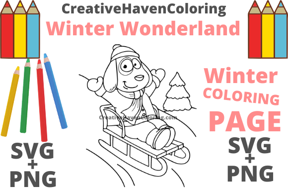 Print on Demand: Winter Wonderland Coloring Page #14 Graphic Coloring Pages & Books Adults By creativehavencoloring