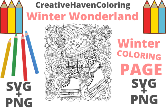 Print on Demand: Winter Wonderland Coloring Page #15 Graphic Coloring Pages & Books Adults By creativehavencoloring