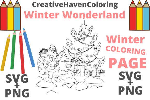 Print on Demand: Winter Wonderland Coloring Page #16 Graphic Coloring Pages & Books Adults By creativehavencoloring