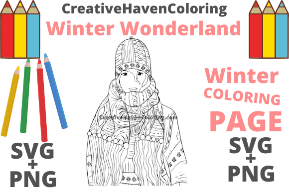 Print on Demand: Winter Wonderland Coloring Page #17 Graphic Coloring Pages & Books Adults By creativehavencoloring