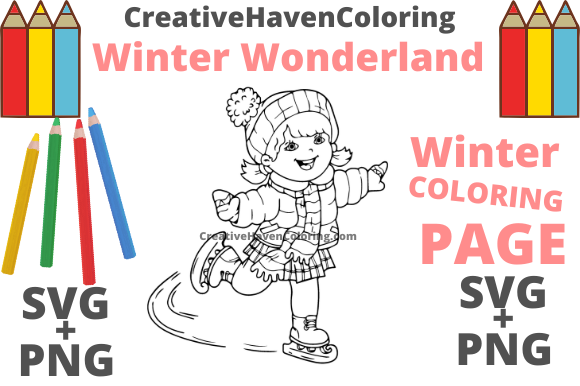 Print on Demand: Winter Wonderland Coloring Page #3 Graphic Coloring Pages & Books Adults By creativehavencoloring