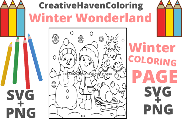 Print on Demand: Winter Wonderland Coloring Page #8 Graphic Coloring Pages & Books Adults By creativehavencoloring