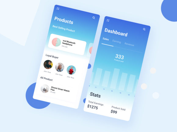 ECommerce App Concept Graphic UX and UI Kits By artgalaxy