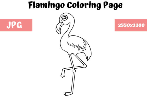 Print on Demand: Flamingo - Coloring Page for Kids Graphic Coloring Pages & Books Kids By MyBeautifulFiles