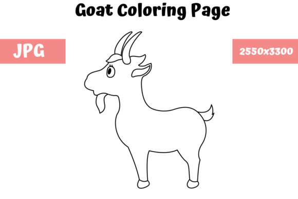 Print on Demand: Goat - Coloring Page for Kids Graphic Coloring Pages & Books Kids By MyBeautifulFiles