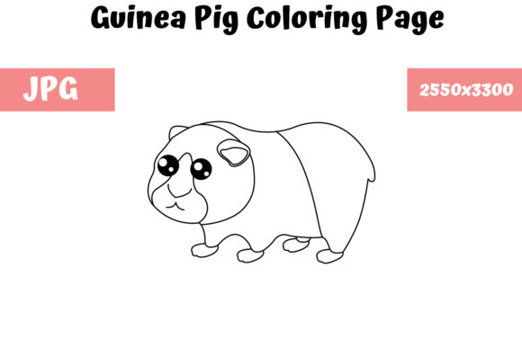 Print on Demand: Guinea Pig - Coloring Page for Kids Graphic Coloring Pages & Books Kids By MyBeautifulFiles