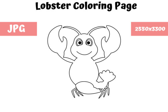 Print on Demand: Lobster - Coloring Page for Kids Graphic Coloring Pages & Books Kids By MyBeautifulFiles