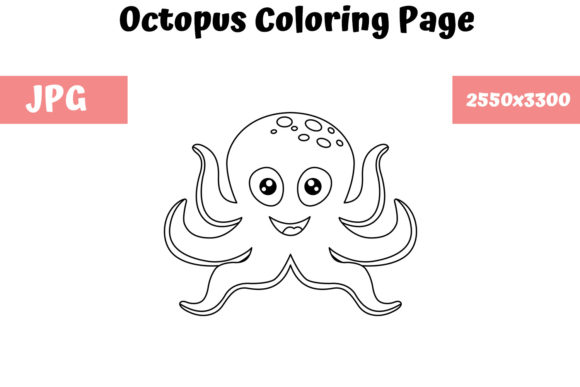 Download Free Octopus Coloring Page For Kids Graphic By Mybeautifulfiles for Cricut Explore, Silhouette and other cutting machines.