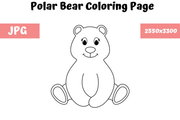 Download Free Polar Bear Coloring Page For Kids Graphic By Mybeautifulfiles for Cricut Explore, Silhouette and other cutting machines.