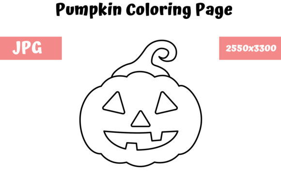 Download Free Pumpkin Coloring Page For Kids Graphic By Mybeautifulfiles for Cricut Explore, Silhouette and other cutting machines.