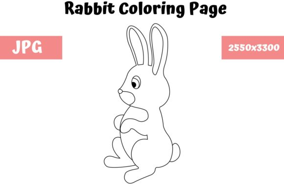 Download Free Rabbit Coloring Page For Kids Graphic By Mybeautifulfiles Creative Fabrica for Cricut Explore, Silhouette and other cutting machines.