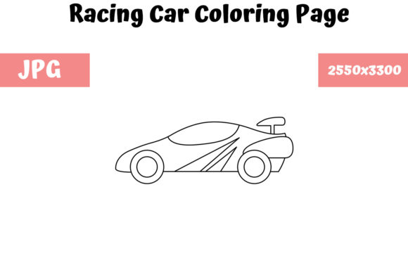 - Racing Car - Coloring Page For Kids (Graphic) By MyBeautifulFiles ·  Creative Fabrica