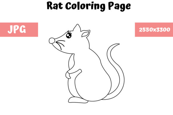 Print on Demand: Rat - Coloring Page for Kids Graphic Coloring Pages & Books Kids By MyBeautifulFiles