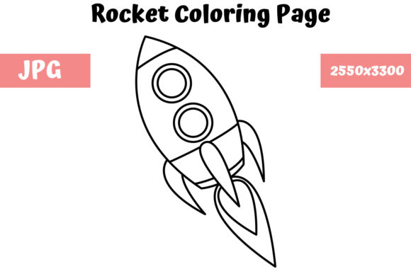 Print on Demand: Rocket - Coloring Page for Kids Graphic Coloring Pages & Books Kids By MyBeautifulFiles