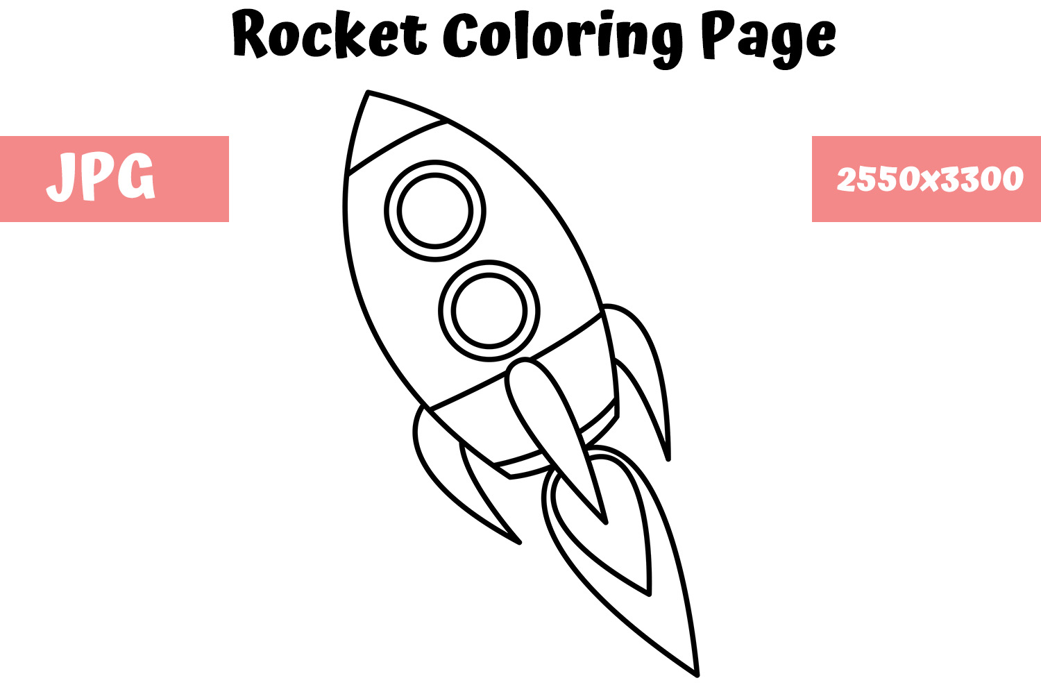 Download Free Rocket Coloring Page For Kids Graphic By Mybeautifulfiles for Cricut Explore, Silhouette and other cutting machines.