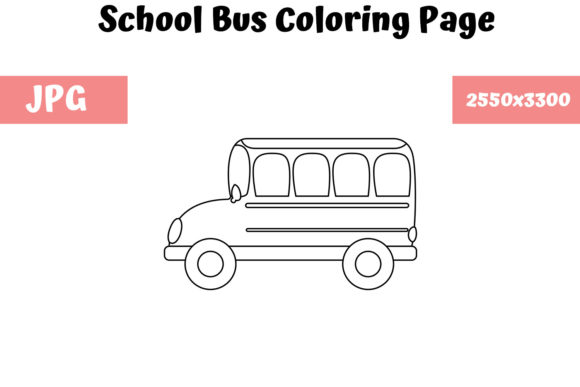Print on Demand: School Bus - Coloring Page for Kids Graphic Coloring Pages & Books Kids By MyBeautifulFiles