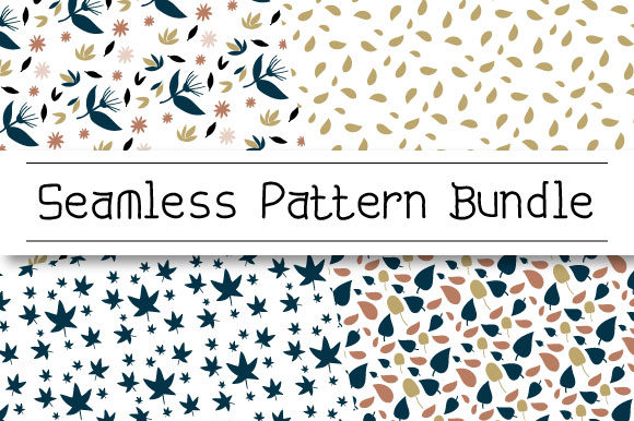 Download Free Seamless Pattern Of Leaves Graphic By Masyafi Creative Studio for Cricut Explore, Silhouette and other cutting machines.