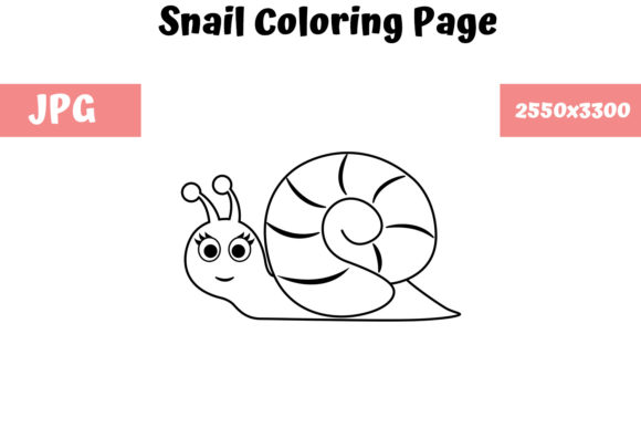 Print on Demand: Snail - Coloring Page for Kids Graphic Coloring Pages & Books Kids By MyBeautifulFiles