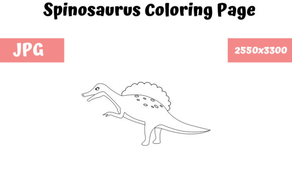 Print on Demand: Spinosaurus - Coloring Page for Kids Graphic Coloring Pages & Books Kids By MyBeautifulFiles