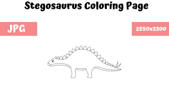 - Stegosaurus - Coloring Page For Kids (Graphic) By MyBeautifulFiles ·  Creative Fabrica