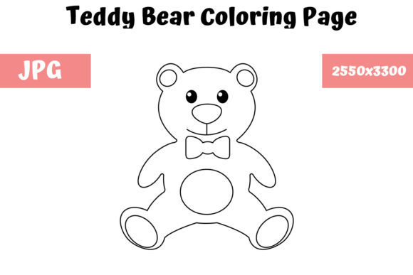 Print on Demand: Teddy Bear - Coloring Page for Kids Graphic Coloring Pages & Books Kids By MyBeautifulFiles