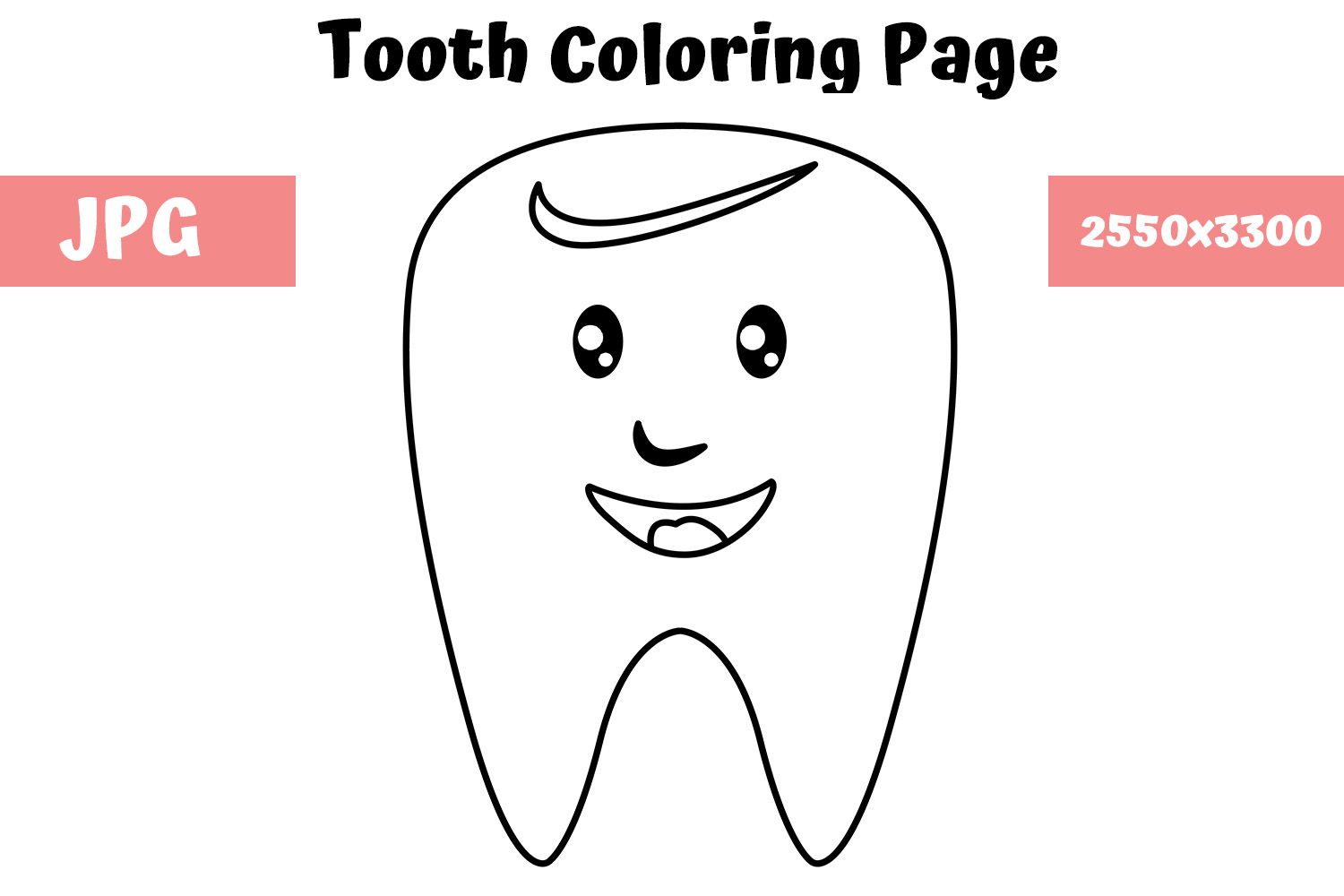 Tooth Cartoon Pictures Of Teeth Coloring Page | Tooth cartoon ... | 1000x1500
