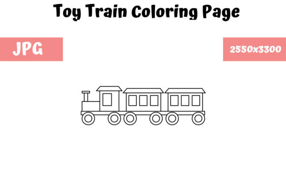 Print on Demand: Toy Train - Coloring Page for Kids Graphic Coloring Pages & Books Kids By MyBeautifulFiles
