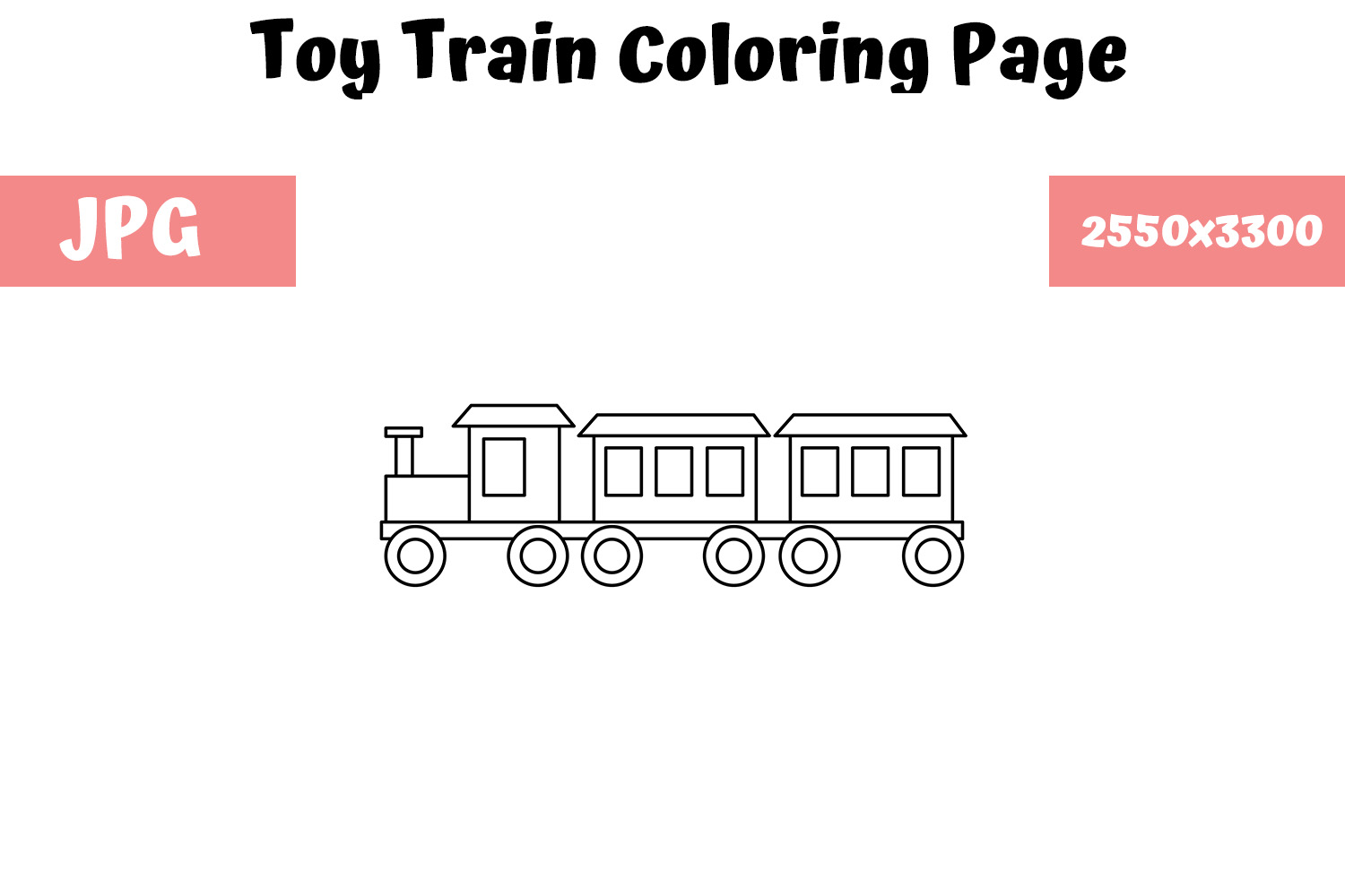 Download Free Toy Train Coloring Page For Kids Graphic By Mybeautifulfiles for Cricut Explore, Silhouette and other cutting machines.