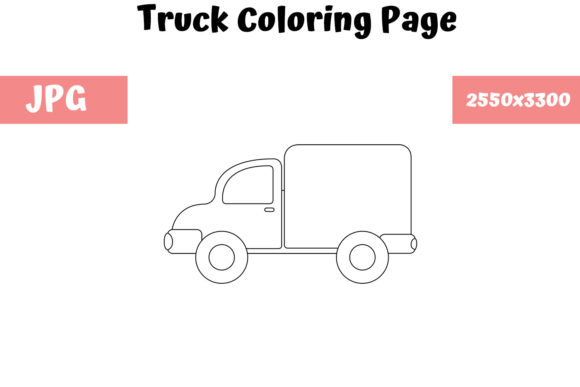 Print on Demand: Truck - Coloring Page for Kids Graphic Coloring Pages & Books Kids By MyBeautifulFiles