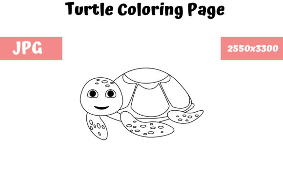 Print on Demand: Turtle - Coloring Page for Kids Graphic Coloring Pages & Books Kids By MyBeautifulFiles