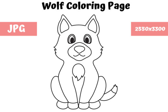 - Wolf - Coloring Page For Kids (Graphic) By MyBeautifulFiles · Creative  Fabrica