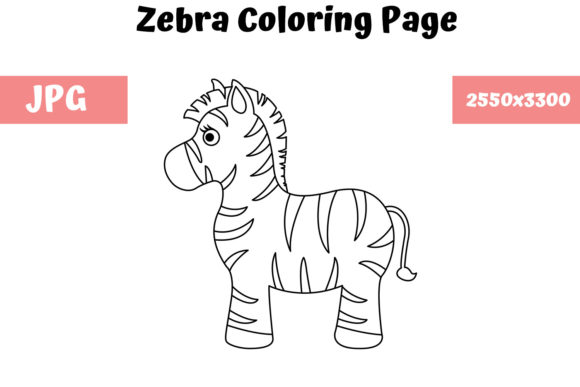 - Zebra - Coloring Page For Kids (Graphic) By MyBeautifulFiles · Creative  Fabrica