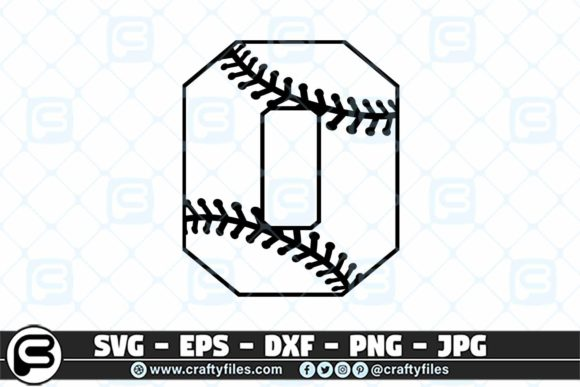 0 Base Ball Numbers Graphic Crafts By Crafty Files