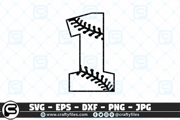 1 Base Ball Numbers Graphic Crafts By Crafty Files