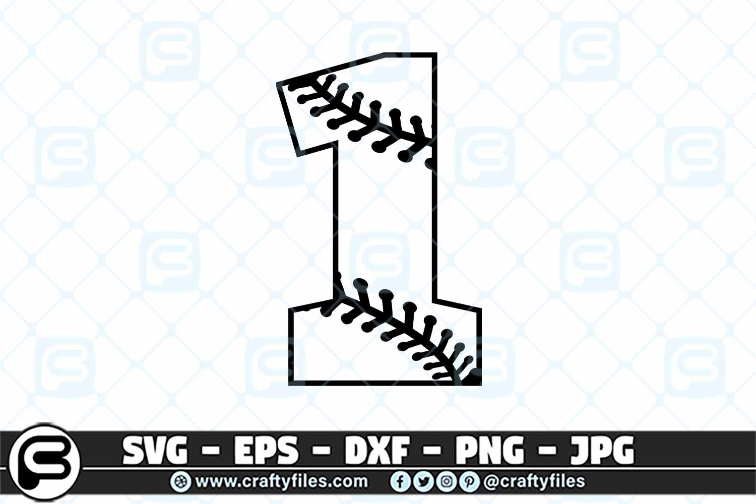 1 Base Ball Numbers Graphic By Crafty Files Creative Fabrica