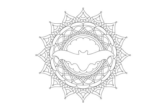 Bat Mandala Mandalas Craft Cut File By Creative Fabrica Crafts
