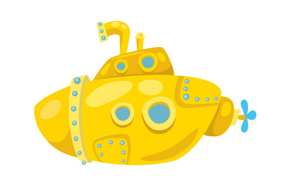 Yellow Submarine Nautical Craft Cut File By Creative Fabrica Crafts