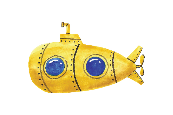 Download Free Yellow Submarine Svg Cut File By Creative Fabrica Crafts for Cricut Explore, Silhouette and other cutting machines.