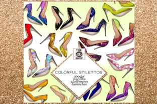 Print on Demand: 34 Shoes Stiletto Clipart Set Graphic Illustrations By TheGGShop 1