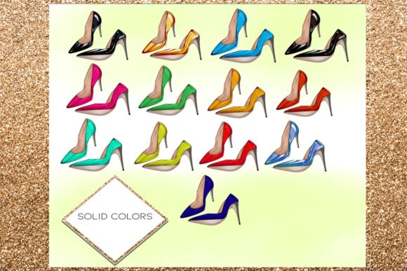 Print on Demand: 34 Shoes Stiletto Clipart Set Graphic Illustrations By TheGGShop - Image 2