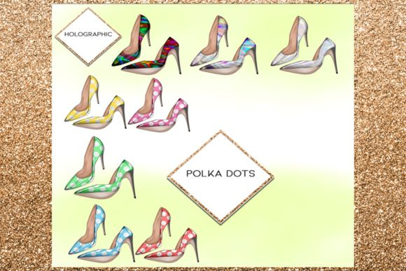 Print on Demand: 34 Shoes Stiletto Clipart Set Graphic Illustrations By TheGGShop - Image 3