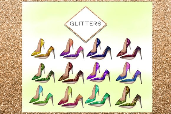 Print on Demand: 34 Shoes Stiletto Clipart Set Graphic Illustrations By TheGGShop - Image 4