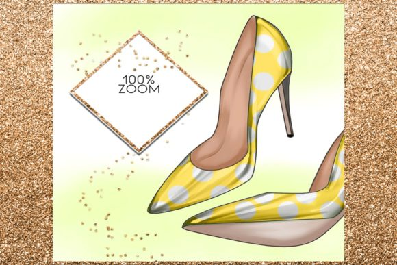 Print on Demand: 34 Shoes Stiletto Clipart Set Graphic Illustrations By TheGGShop - Image 6