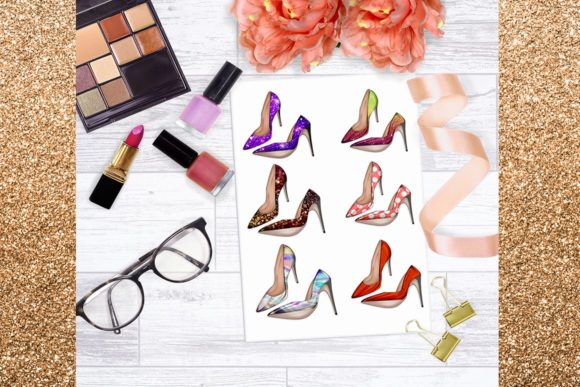 Print on Demand: 34 Shoes Stiletto Clipart Set Graphic Illustrations By TheGGShop - Image 8