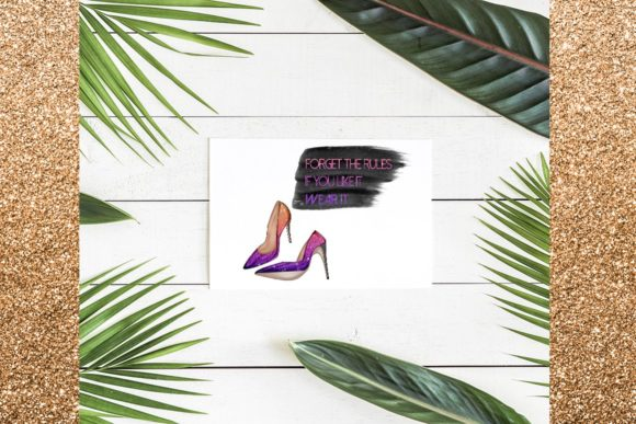 Print on Demand: 34 Shoes Stiletto Clipart Set Graphic Illustrations By TheGGShop - Image 9