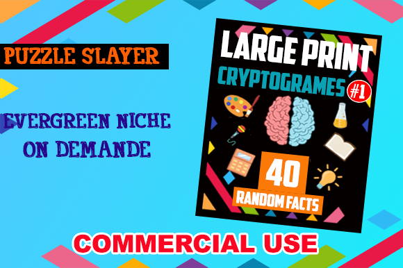 40 Cryptograms for KDP Activity Books Graphic KDP Interiors By PuzzleSlayer