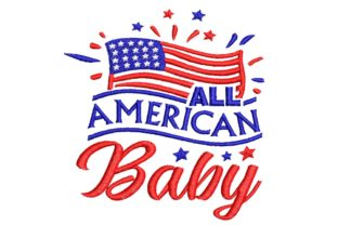 4th July: All American Collection 01 Independence Day Embroidery Design By BabyNucci Embroidery Designs