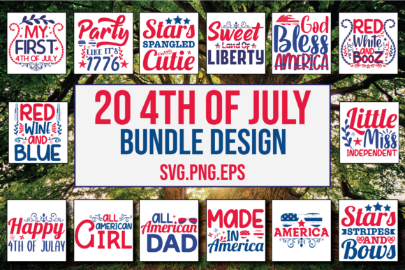 4th of July Bundle Graphic Print Templates By PatternFeed