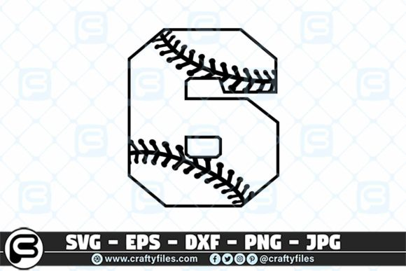 6 Base Ball Numbers Graphic Crafts By Crafty Files