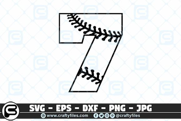 7 Base Ball Numbers Graphic Crafts By Crafty Files